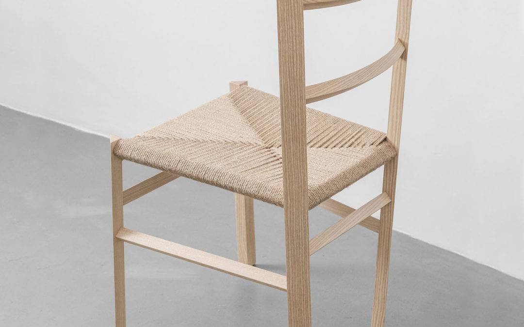 Woven Jute or Braided Leather Cord Chair