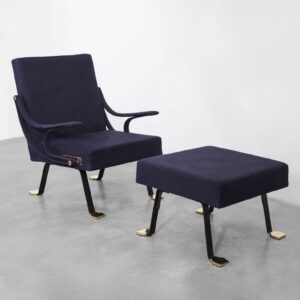 Mod. Digamma Armchair and Ottoman