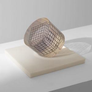 Deformazione Ottico-Dinamica di un Cubo in un Cilindro